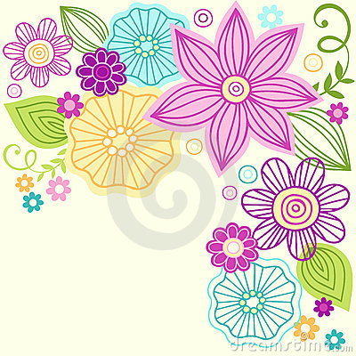 Cute Flower Doodle Vector Design