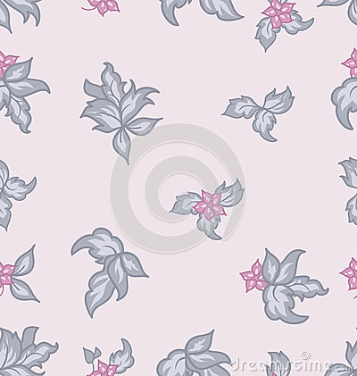 Cute flower vintage seamless background