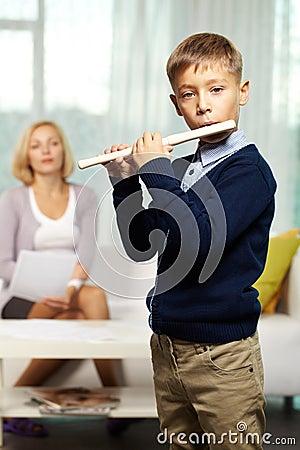 Cute flutist