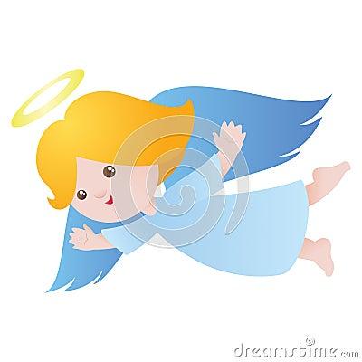 Cute flying angel