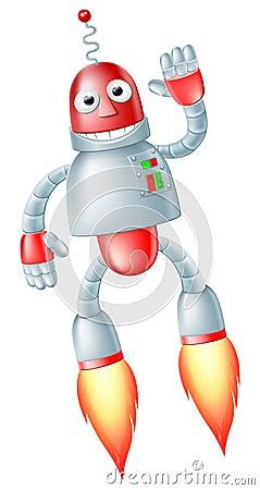Cute flying robot man