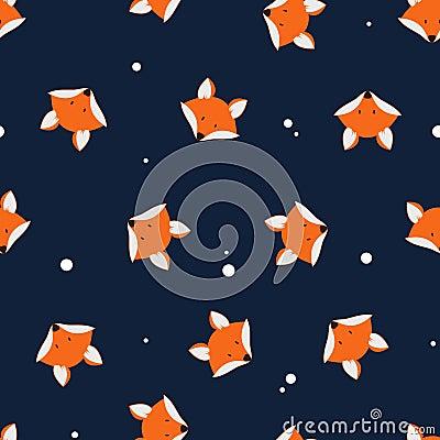 Free Cute Foxes Seamless Vector Pattern. Vector Cute Cartoon Fox Seam Stock Image - 67099071