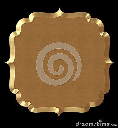 Cute Frame Wavy Gold
