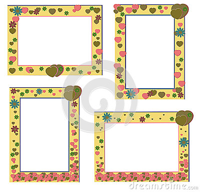 Cute frames with flowers