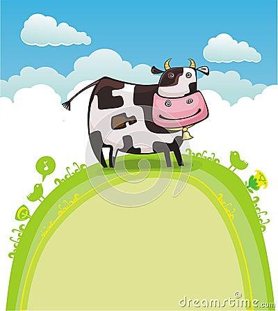 Cute friendly cow.