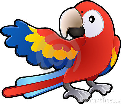Cute Friendly Macaw Parrot Ill