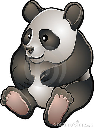 Cute Friendly Panda Vector Ill