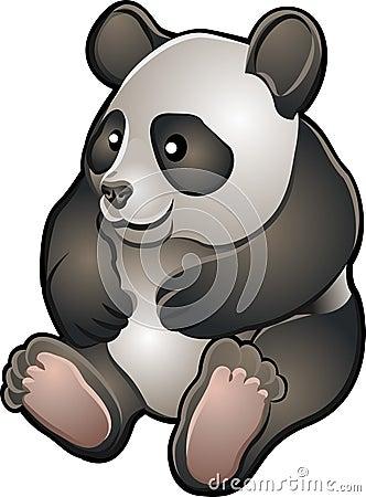 Cute Friendly Panda Vector Ill