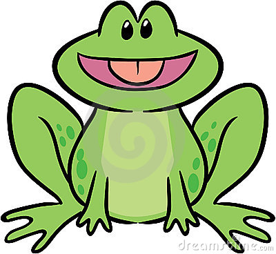 Cute frog vector illustration