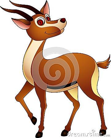Cute gazelle cartoon