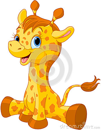 Free Cute Giraffe Calf Royalty Free Stock Images - 44784219