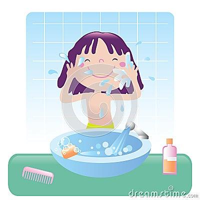 Free Cute Girl- Bathroom Royalty Free Stock Photo - 6840285