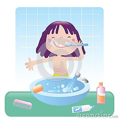 Cute girl- bathroom