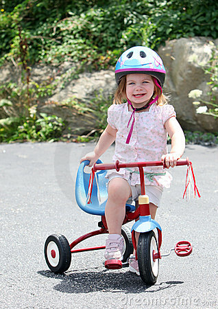 Cute girl on bike