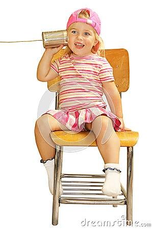 Free Cute Girl Calls Dad Royalty Free Stock Image - 3186376