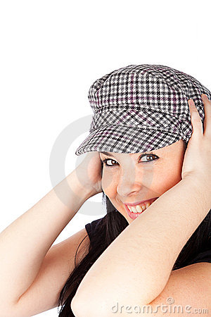 Cute girl with a casual cap