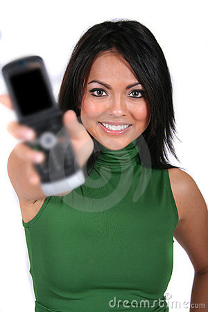 Cute Girl with Cell Phone