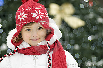 Cute girl at Christmas