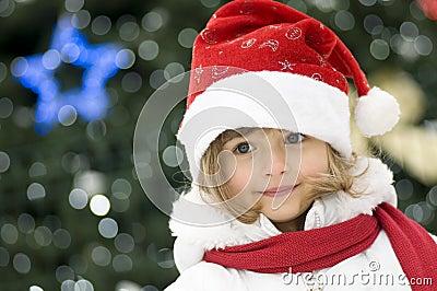 Cute girl at Christmas