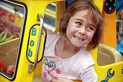 Cute Girl at the Fairground