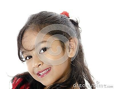 A Cute Girl In Happy Mood