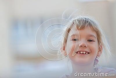Cute girl having fun.
