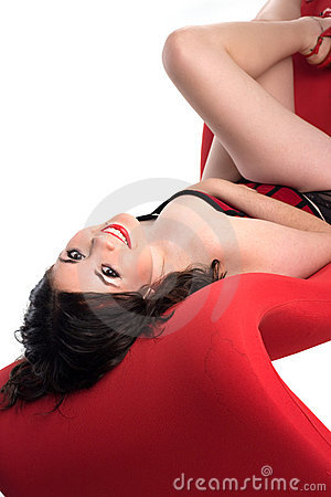 Free Cute Girl In Pin-up Pose Stock Images - 5282914