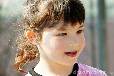 Cute girl outdoors