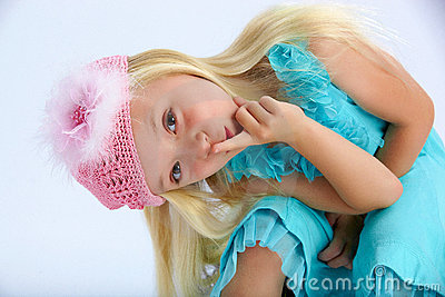 Cute girl in party dress