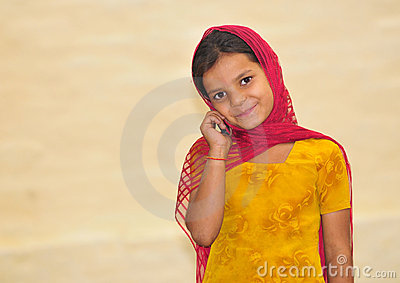 Cute girl with phone