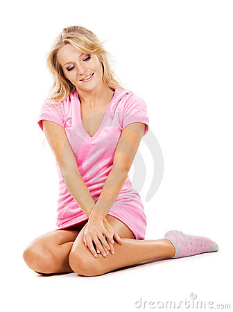 Cute Girl In Pajamas Royalty Free Stock Photo - Image: 14237305