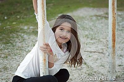 Cute girl at playground