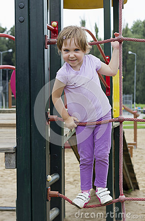 Cute girl at playground