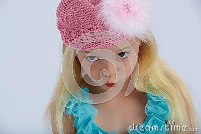 Cute girl pouting