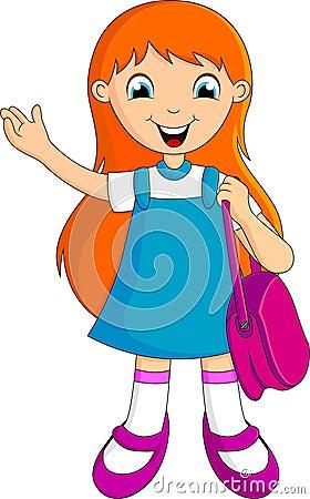 Cute girl school