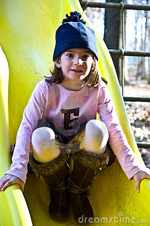 Cute Girl On a Slide