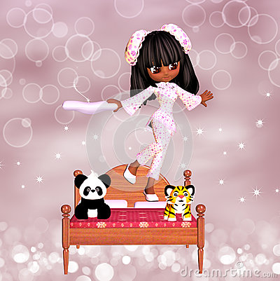 Cute Girl Slumber Party Invite