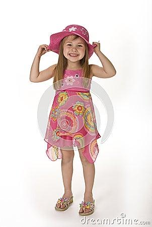 Cute Girl in Summer Wear