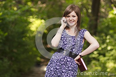 Cute girl talking on the phone