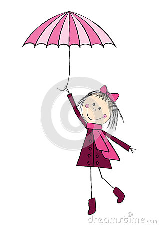 Cute girl with umbrella