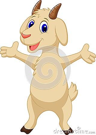 Free Cute Goat Cartoon Stock Images - 45743124