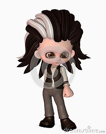 Cute goth character