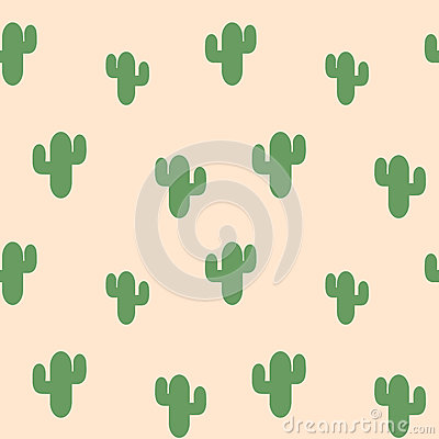 Free Cute Green Cactus Succulent Plants On Pink Background Seamless Pattern Illustration Stock Image - 87437181