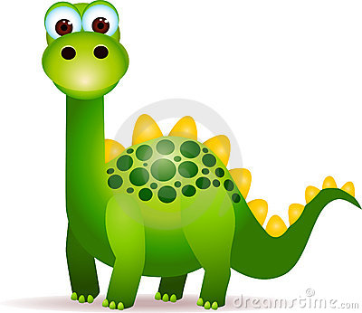 Cute green dinosaurs