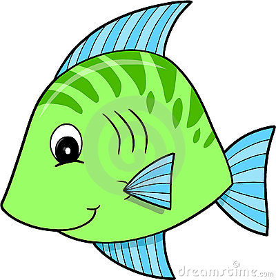 Cute Green Fish