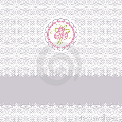 Cute greeting card with roses
