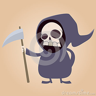 Cute Grim Reaper Stock Photos - Image: 28666683
