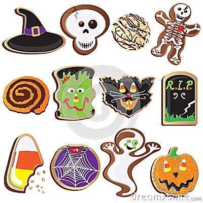 Cute Halloween Cookies Clipart