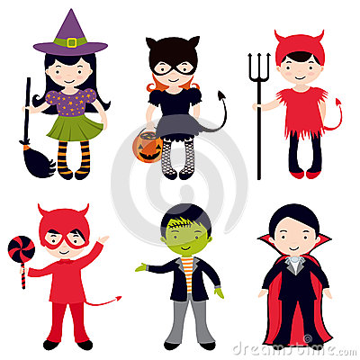 Cute Halloween kids