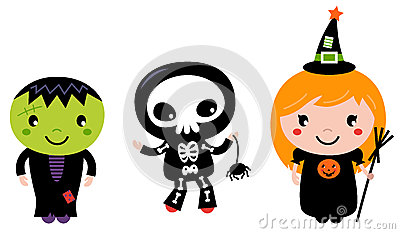 Cute halloween Kids